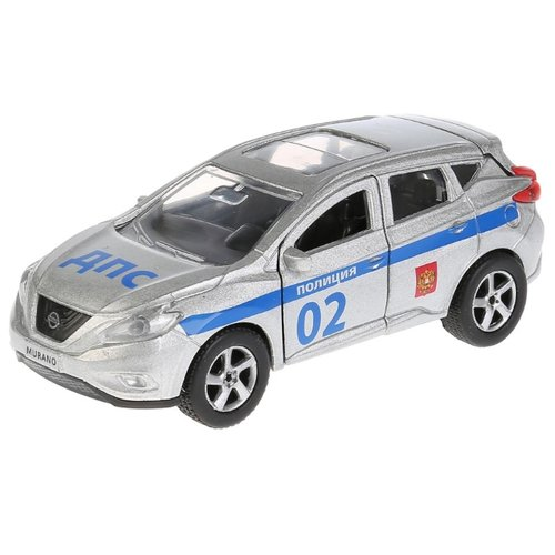 Купить Внедорожник ТЕХНОПАРК Nissan Murano Полиция (SB-17-75-NM-P-WB) 17 см серый/синий, Машинки и техника