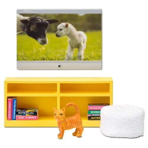 Купить Lundby Домашний кинотеатр Смоланд (LB_60209100) желтый/белый, Мебель для кукол