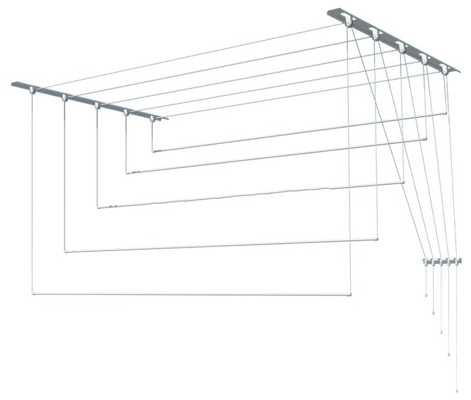 Сушилка для белья Лиана настенно-потолочная металлическая 1,9 м