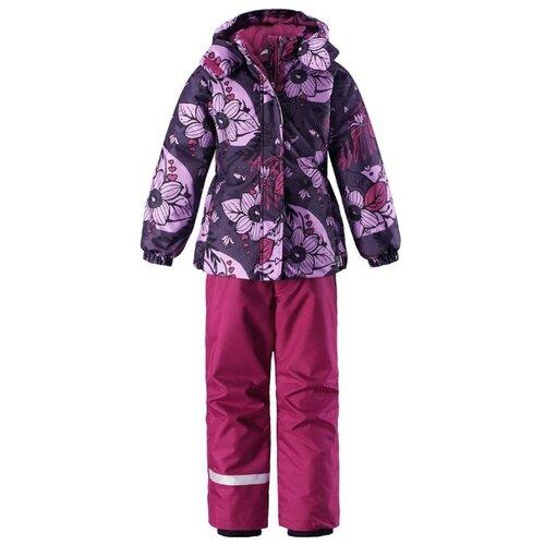 Комплект с брюками Lassie размер 92, 5781 фиолетовый (цветы)