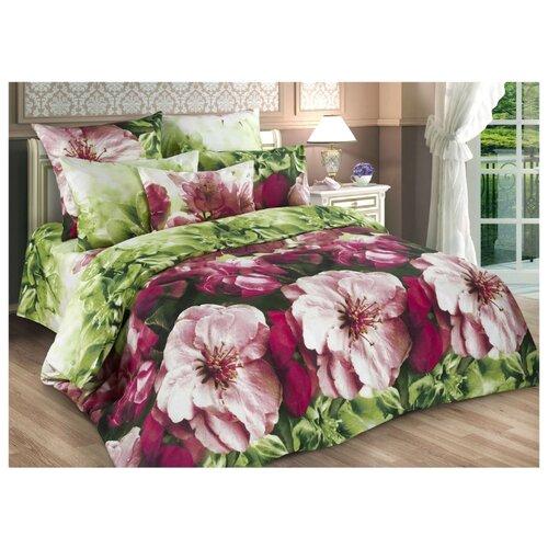 Постельное белье 2-спальное Диана-Текс Весенние цветы 4259-2 бязь
