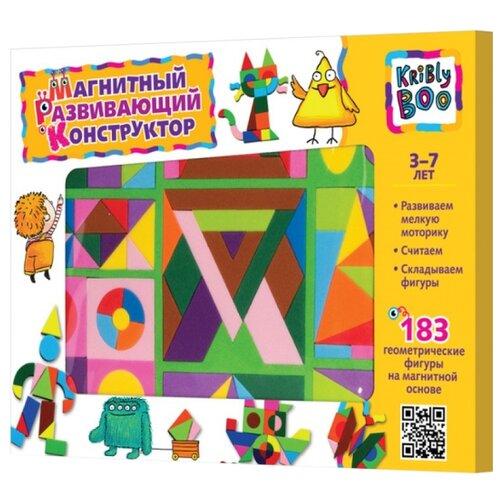 Купить Kribly Boo Магнитный геометрический конструктор 183 элемента (47085), Мозаика
