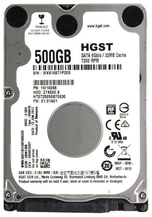 Жесткий диск HGST Travelstar Z7K500.B 500GB