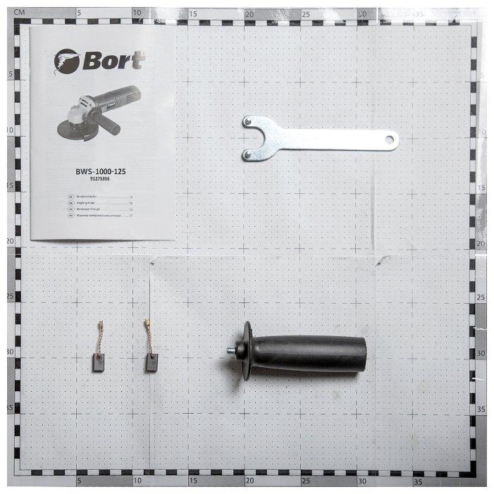 УШМ Bort BWS-1000-125, 1000 Вт, 125 мм