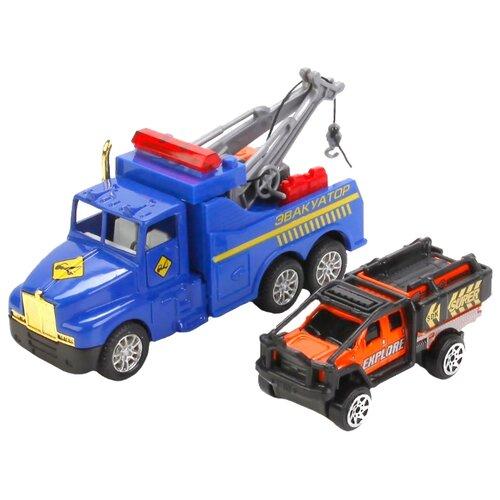 Купить Набор машин ТЕХНОПАРК 1009-EVO-R синий/черный/оранжевый, Машинки и техника
