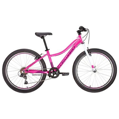 """Подростковый горный (MTB) велосипед FORWARD Seido 24 1.0 (2019) розовый 13"""" (требует финальной сборки)"""