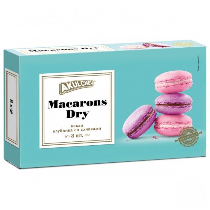 Печенье Акульчев Macaroons Dry с какао и со вкусом клубники и сливок, 80 г