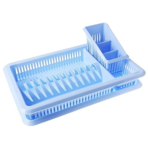 Сушилка для посуды Plastic Centre Лилия с сушилкой для столовых приборов крышка для свч plastic centre galaxy цвет малиновый прозрачный диаметр 22 см