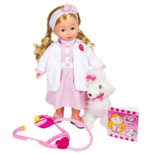 Купить Кукла Dimian Bambolina Доктор Молли с собачкой, 40 см BD1384RU-M37, Куклы и пупсы