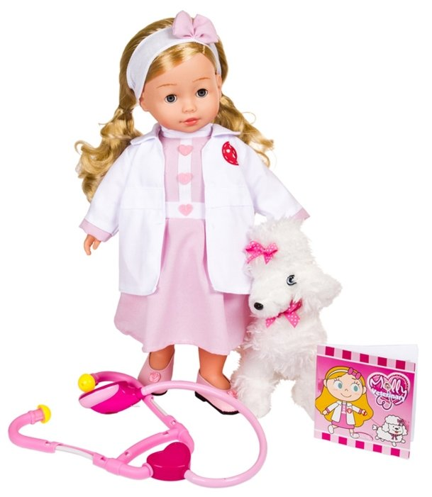 Кукла Dimian Bambolina Доктор Молли с собачкой, 40 см BD1384RU-M37