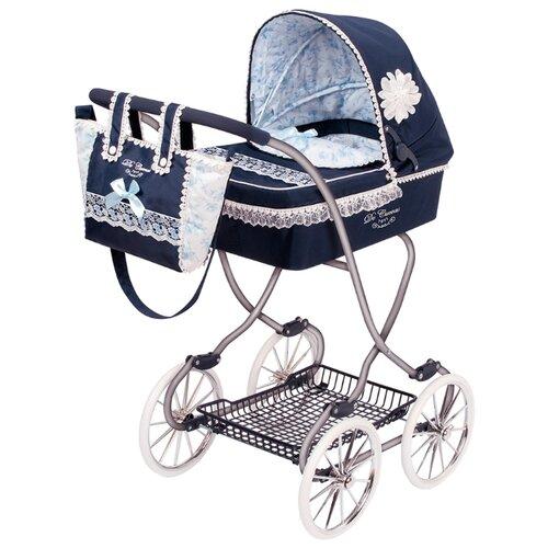 Купить Коляска-люлька DeCuevas Романтик (80225) синий, Коляски для кукол