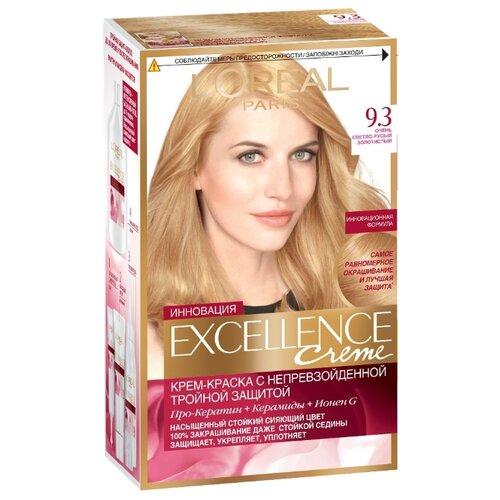 LOreal Paris Excellence стойкая крем-краска для волос, 9.3, Очень Светло-русый золотистыйКраска<br>