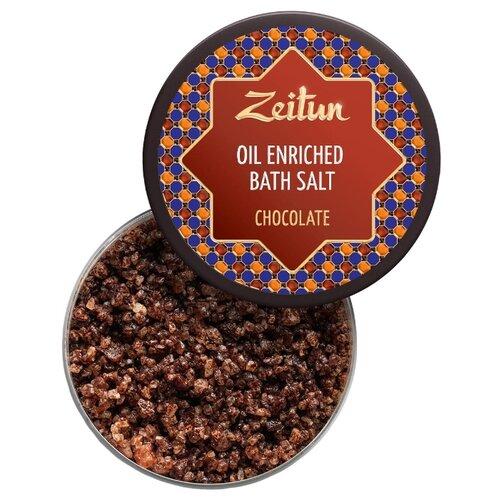 Zeitun Соль для ванн Шоколадная с маслом плодов какао и ванилью 250 млПена, соль, масло<br>