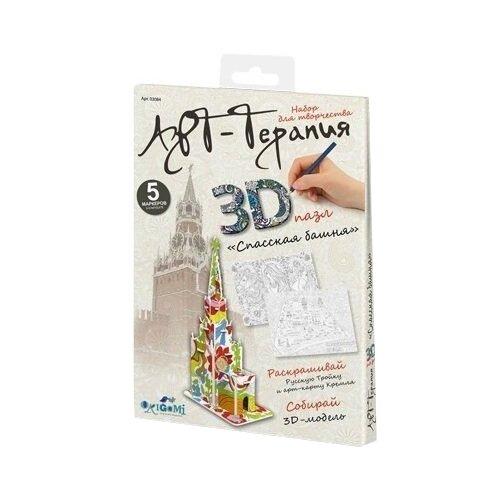 Купить 3D-пазл Origami Арт-терапия Спасская башня (03084), 100 дет., Пазлы