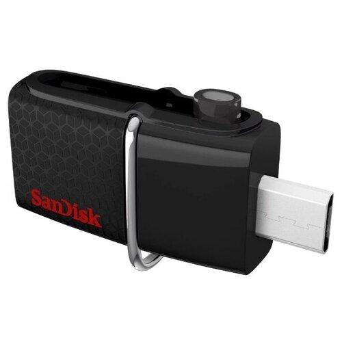 Фото - Флешка SanDisk Ultra Dual USB Drive 3.0 16GB черный sandisk ultra dual drive usb type c 256gb черный