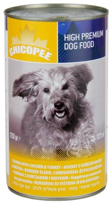 Корм для собак Chicopee Консервы для собак: мясные кусочки с курицей и индейкой