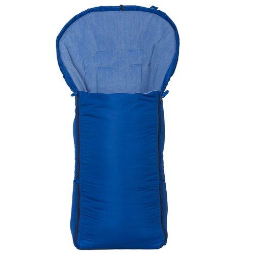 Конверт-мешок Чудо-Чадо в коляску флисовый 3 сезона 92 см синийКонверты и спальные мешки<br>