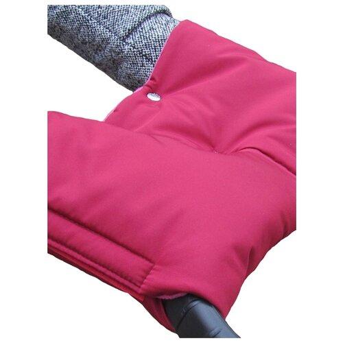 Купить Чудо-Чадо Муфта для рук флис/липучка вишневый, Аксессуары для колясок и автокресел