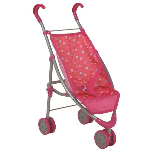 Купить Прогулочная коляска Buggy Boom Mixy 8022 розовый/сердечки, Коляски для кукол