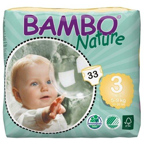 BAMBO подгузники Nature Mini (5-9 кг) 33 шт.
