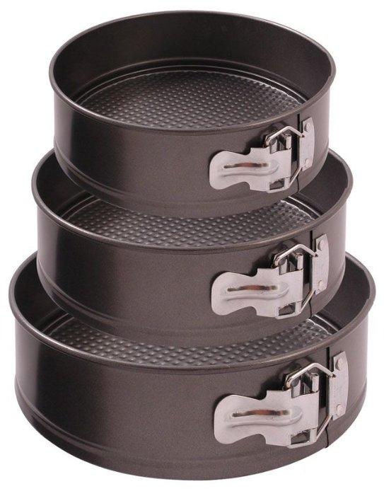 Форма для выпечки стальная Mallony SF-002SET 191312, 3 шт. (24х7.1 см)