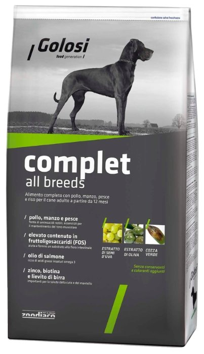 Корм для собак Golosi Complet All Breeds