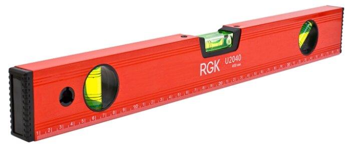 Уровень брусковый 3 глаз. RGK U2040 40 см