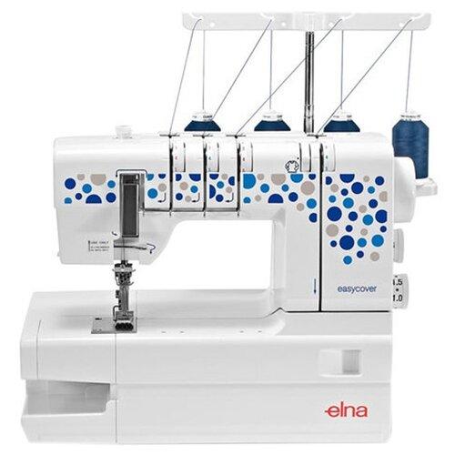 Распошивальная машина Elna easycover бело-синий швейная машина elna excellence 680