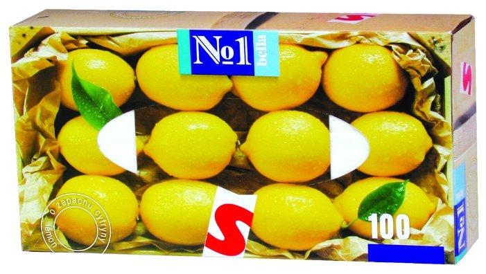 Платочки Bella №1 с ароматом лимона 100 шт.