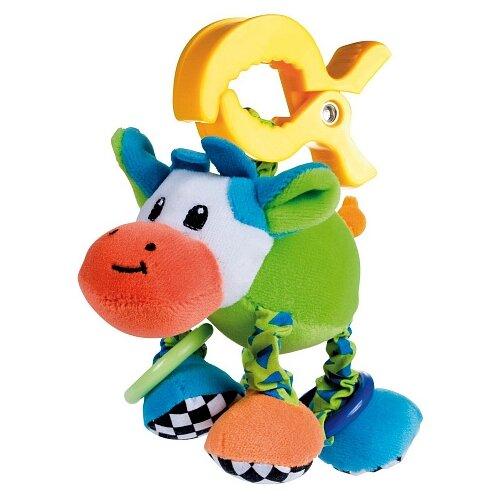 Купить Подвесная игрушка Canpol Babies Корова (68/010) зеленый/голубой/оранжевый, Подвески