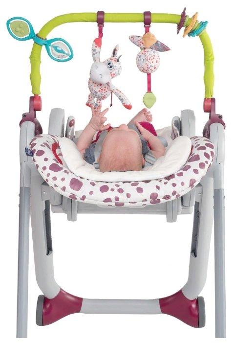 Комплект для стульчика Chicco Polly Progres5 с игрушками и вкладышем зеленый