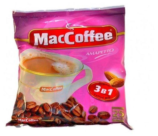 Растворимый кофе MacCoffee Амаретто 3 в 1, в пакетиках