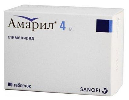 Амарил таб. 4 мг №90