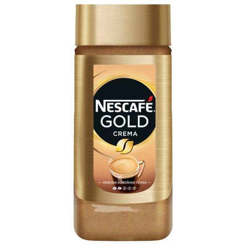 Кофе растворимый Nescafe Gold Crema с пенкой, стеклянная банка 95 гРастворимый кофе<br>