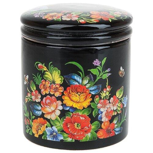 Polystar Global Art Банка для сыпучих продуктов Романс 450 мл черный