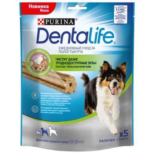 Лакомство для собак Dentalife Уход за полостью рта для средних пород, 5 шт. в уп.Лакомства для собак<br>
