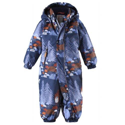 Купить Комбинезон Reima Puhuri 510306 размер 80, синий с рисунком, Теплые комбинезоны