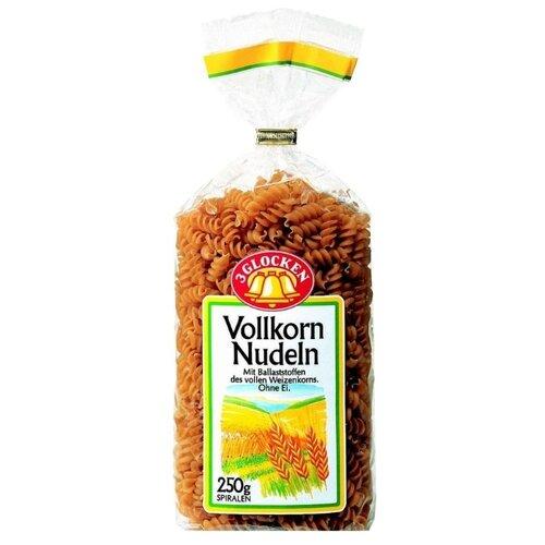 3 Glocken Макароны Vollkorn Nudeln Spiralen цельнозерновые, 250 гМакароны<br>