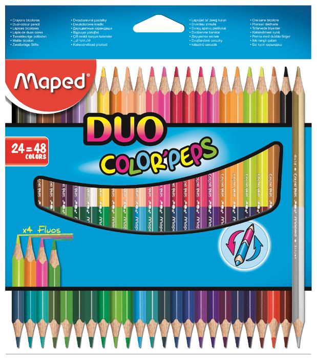 Maped Цветные карандаши двусторонние Color Peps Duo 48 цветов 24 штуки (829602)