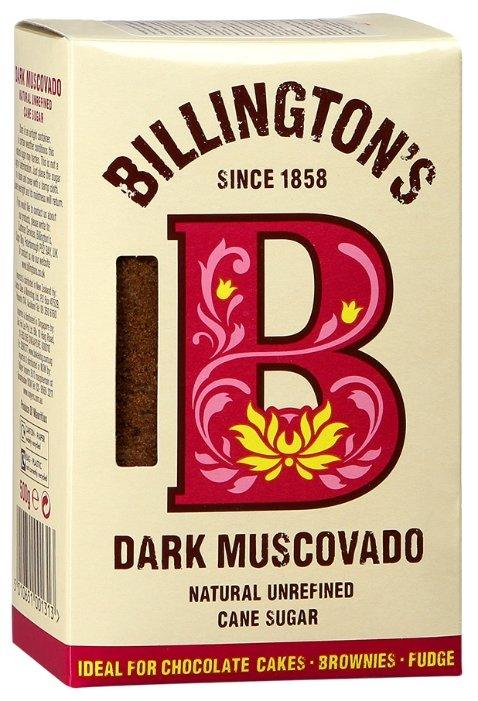 Сахар BILLINGTON'S нерафинированный Dark Muscovado, 500г.