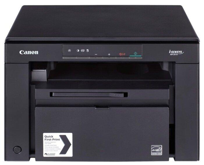 МФУ Canon i-SENSYS MF3010 [A4, печать лазерная черно-белая, 18 стр/мин ч/б, 1200x600 dpi, подача: 150 лист., вывод: 100 лист., память: 64 Мб, USB]