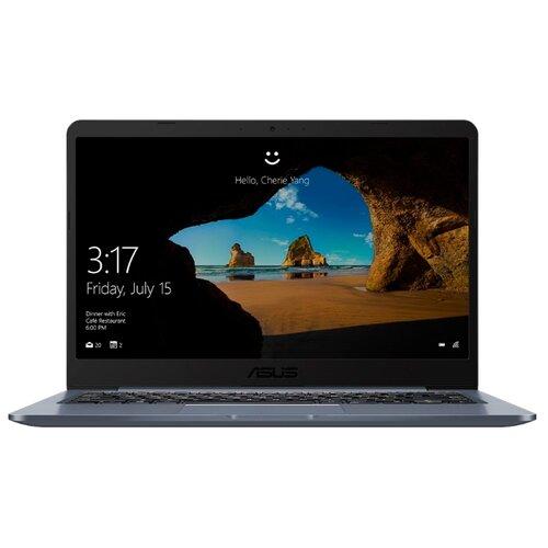Ноутбук ASUS E406MA-EK064 (Intel Celeron N4100 1100MHz/14/1920x1080/4GB/128GB eMMC/DVD нет/Intel UHD Graphics 600/Wi-Fi/Bluetooth/DOS) 90NB0J81-M10900 звездный серый ноутбук