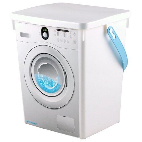 ПОЛИМЕРБЫТ Контейнер для стирального порошка 8,5 л белый ведро plast team для стирального порошка 4 5 л