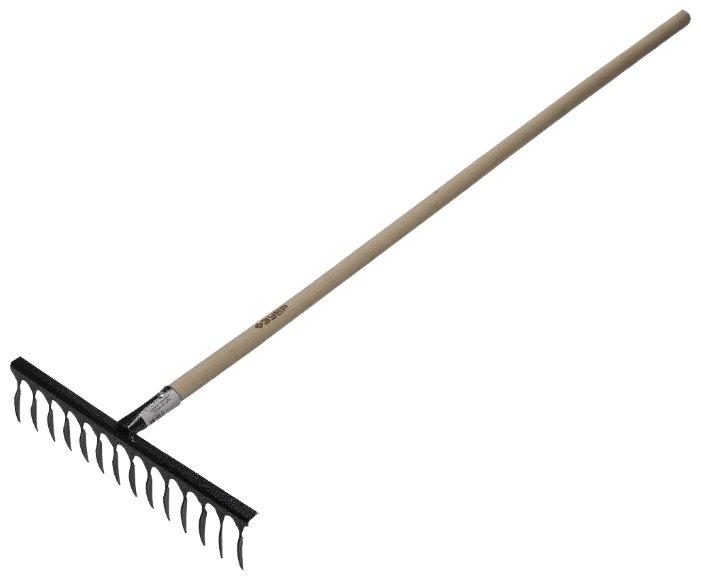 Грабли садовые ЗУБР 14 витых зубов, с деревянной ручкой 4-39581-14