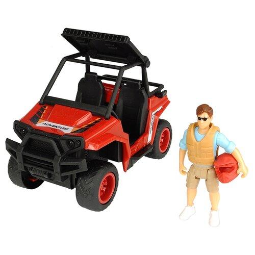Купить Квадроцикл Dickie Toys Playlife Park Ranger (3833005) 1:24 16 см красный/черный, Машинки и техника