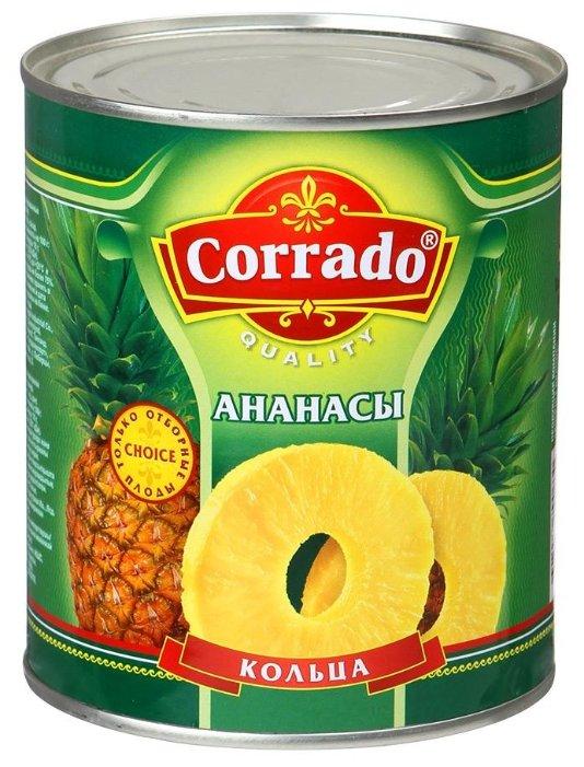 Консервированные ананасы Corrado кольца, жестяная банка 850 г
