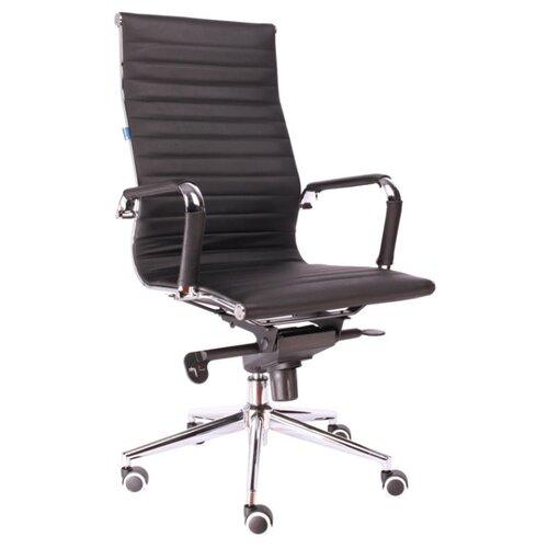 Фото - Компьютерное кресло Everprof Rio M для руководителя, обивка: натуральная кожа, цвет: черный компьютерное кресло everprof drift m для руководителя обивка натуральная кожа цвет коричневый