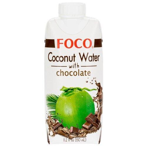 Вода кокосовая FOCO с шоколадом, 0.33 лСоки, нектары, морсы<br>