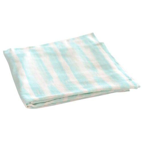 Купить Многоразовые пеленки TinyTwinkle хлопок 120х120 голубая полоска, Пеленки, клеенки