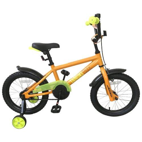 Детский велосипед STARK Tanuki 16 BMX (2019) оранжевый/желтый (требует финальной сборки) велосипед stark vesta 26 3 v зелено желтый 16